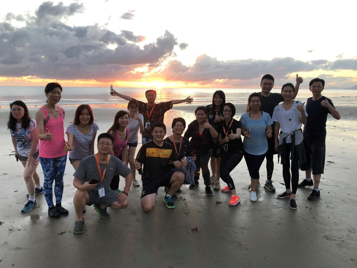 Melbourne Team Enjoying a Sun Rise Run