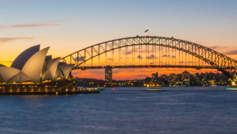 Sydney Harbour in dusk