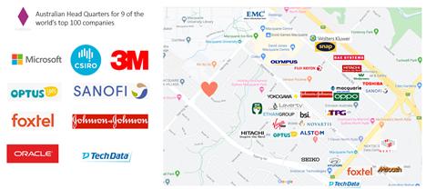macquarie park top companies