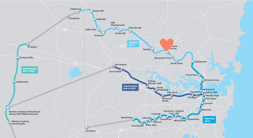 macquarie park train line